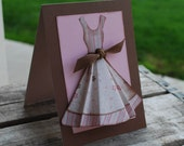 Kathy .... Dress Card and Envelope....Think PINK