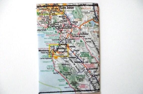 San Jose Map wallet / cardholder
