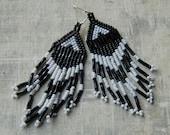 Beaded Fringed Earrings
