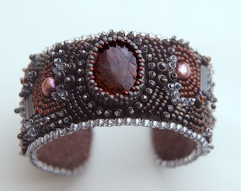 Fortune - Bead Embroidery Cuff