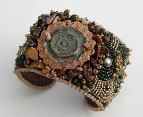 Abra - Bead Embroidery Cuff