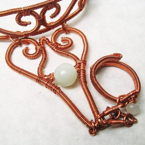 Copper and Serpentine Slave Bracelet  -  - Last Chance Sale