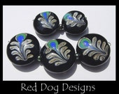 RDD - Peacock Feather Lampwork Beads SRA