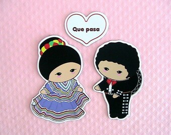 Greeting Magnets-Que Pasa