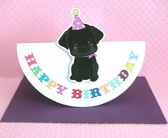 My Best Friend Birthday Card-Black Labrador Retriever
