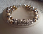 Custom Name Bracelet Mom Mommy Grandma Birthday Swarovski Boutique 2 strand