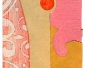 """Mini Original Art Collage - """"The Sun Also"""" ACEO"""