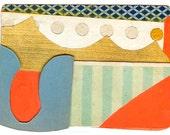 "Mini Original Art Collage - ""Yacht Club"" ACEO"