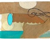 "Mini Original Art Collage - ""Caribbean Fall"" ACEO"