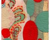 """Mini Original Art Collage - """"Float"""" ACEO"""