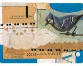 "Mini Original Art Collage - ""Birds of America No. 2"" ACEO"