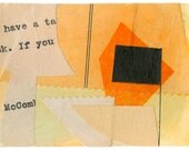 "Aceo original Art Collage - ""Destination"" - OOAK art card"