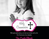 Communion,Christening, Baptism, Confirmation  Photo Invitation, Printable, Do it yourself