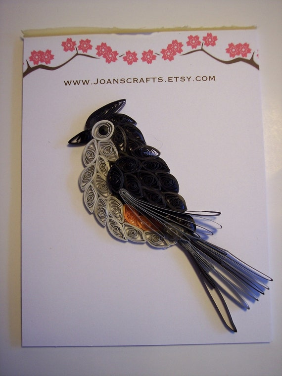 Tuffed Titmouse Quilled Ornament