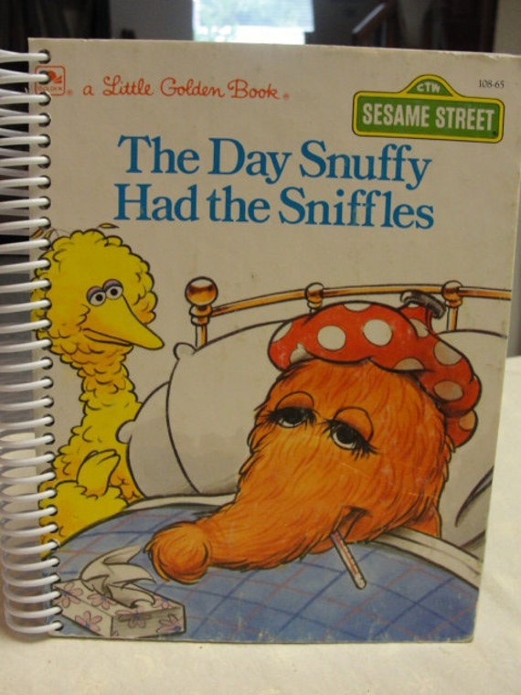 Sesame Street The Day Snuffy had the Sniffles Journal Sketch coil bound