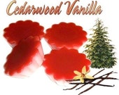 4 Cedarwood Vanilla Tarts Wickless Candle Melts Cedar Scent