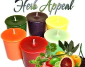 6 Herb Appeal Votive Candles Variety Package Herbal Scents