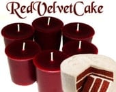 6 Red Velvet Cake Votive Candles Bakery Scent