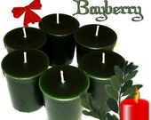 6  Bayberry Votive Candles Spicy Balsam Christmas Candle Scent Handmade