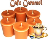 6 Cafe Caramel Votive Candles Creamy Coffee Scent