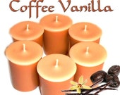 6 Coffee Vanilla Votive Candles Coffee Scent