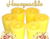 6 Honeysuckle Votive Candles Spring Floral Scent