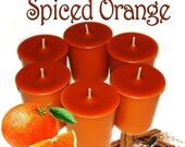 6 Spiced Orange Votive Candles Spicy Fall Scent