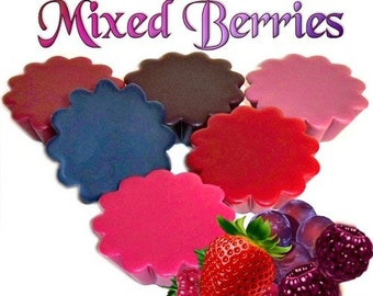 6 Mixed Berries Tarts Candle Melts Assorted Berry Scents Variety Pack Handmade