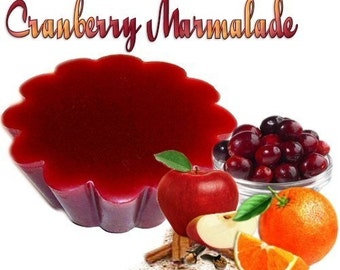 4 Cranberry Marmalade Tarts Candle Melts Orange and Berry Scent