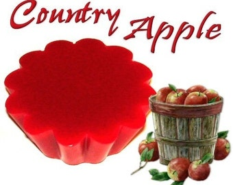 4 Country Apple Wax Tart Candle Melts Fruit Scent