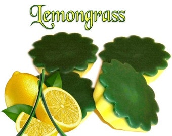 4 Lemongrass Tarts Wickless Candle Melts Lemon Herbal Scent