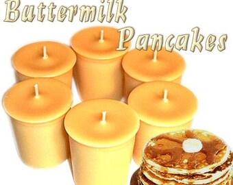 6 Buttermilk Pancakes Votive Candles Flapjack Scent