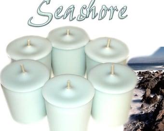 6 Seashore Votive Candles Fresh Scent