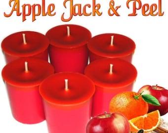 6 Apple Jack and Peel Votive Candles Apple Orange Spice Scent