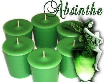 6 Absinthe Votive Candles Intoxicating Mysterious Liquor Scent