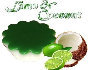 4 Lime and Coconut Tarts Wickless Candle Melts Citrus Scent