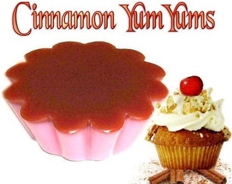 4 Cinnamon Yum Yums Wax Tarts Wickless Candle Melts Spicy Bakery Scent