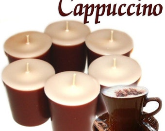 6 Cappuccino Votive Candles Coffee Scent
