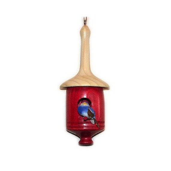 Birdhouse Christmas Tree Ornaments : Mini birdhouse ornament for christmas tree wood