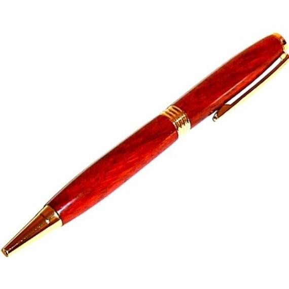 Trimline Paduak Wood Pen Gold Plate Trim 41