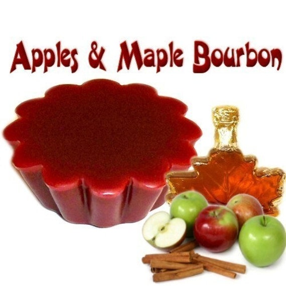 4 Apples and Maple Bourbon Tarts Wickless Candle Melts Fruit Scent
