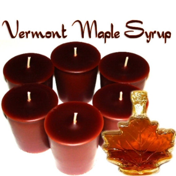 6 Vermont Maple Syrup Votive Candles Maple Scent Handmade