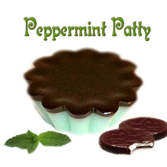 4 Peppermint Patty Tarts Wickless Candle Melts Chocolate Mint Scent