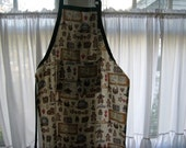 Gingerbread Print Adult Chef Apron