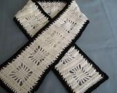 Scarf Black and White Snowflake Crochet Spider Web Stitch Pattern