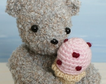 PDF Ice Cream Bear amigurumi teddy bear CROCHET PATTERN