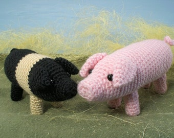 PDF Farmyard Pigs amigurumi CROCHET PATTERN