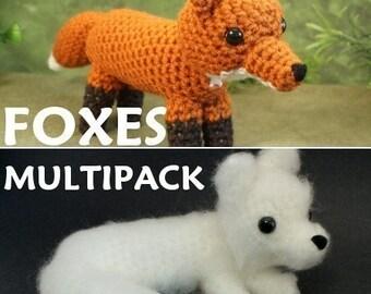 PDF Red Fox and Arctic Fox - two amigurumi CROCHET PATTERNS