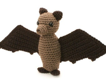 PDF Fruit Bat (Flying Fox) amigurumi CROCHET PATTERN