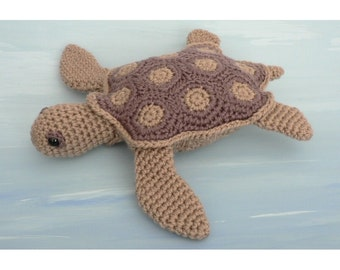 PDF AquaAmi Sea Turtle amigurumi CROCHET PATTERN